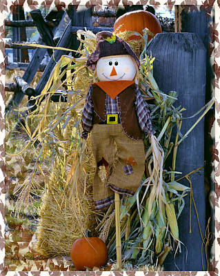 Pumpkin Mixed Media - Happy Scarecrow by Kae Cheatham