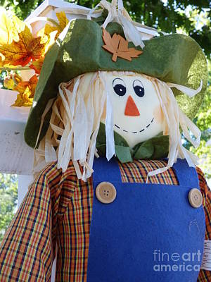 Photograph - Happy Scarecrow by Leara Nicole Morris-Clark