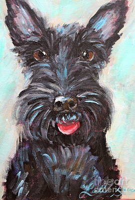 Painting - Happy Schnauzer by Leslie Saucier