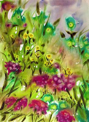 Happy Art Print by Shirley Sykes Bracken