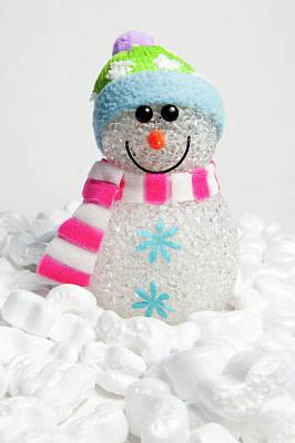 Photograph - Happy Snowman by Helen Northcott