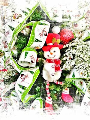 Photograph - Happy Snowman by Rachel Hannah