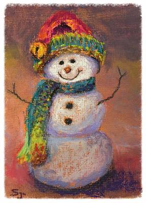 Painting - Happy Snowman by Susan Jenkins