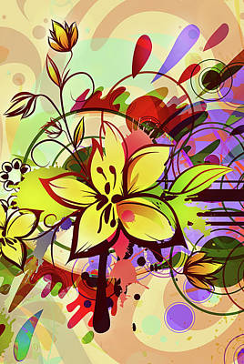 Digital Art - Happy Splash Whimsy by Georgiana Romanovna