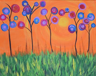 Sun Rays Painting - Happy Spring by Marla McPherson