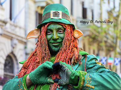 Photograph - Happy St.patrick's Day by Venetia Featherstone-Witty