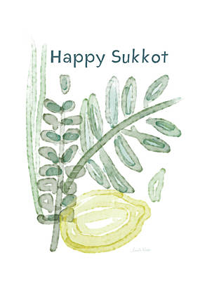 Mixed Media - Happy Sukkot - Art By Linda Woods by Linda Woods