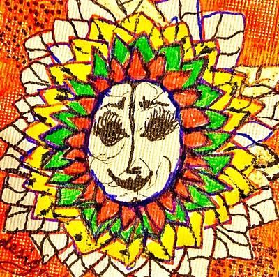 Mixed Media - Happy Sun Face by Renee Marie Martinez