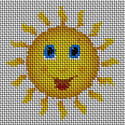Happy Sun Image Knit Art Print
