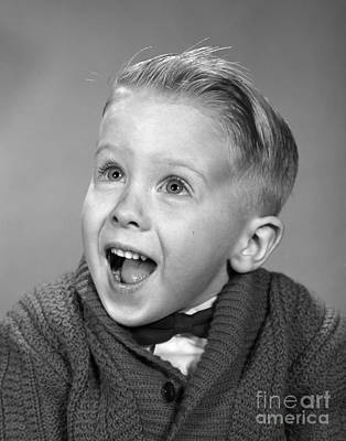 Amazing Stories Photograph - Happy, Surprised Boy, C.1960s by H. Armstrong Roberts/ClassicStock