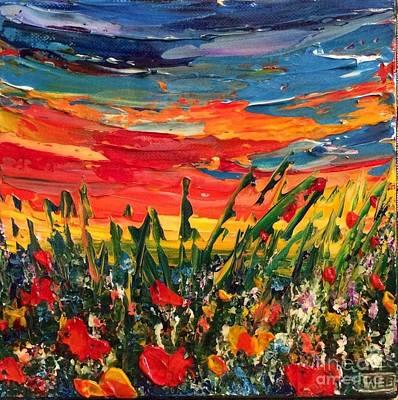Poppies Painting - Happy by Teresa Wegrzyn
