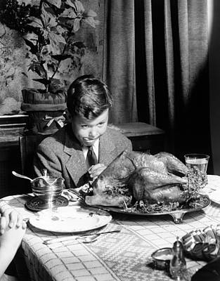 Photograph - Happy Thanksgiving by American School