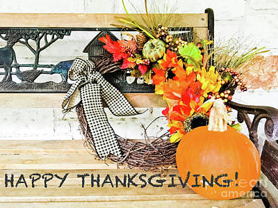 Photograph - Happy Thanksgiving by Barbara Shallue