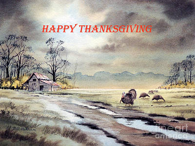 Painting - Happy Thanksgiving  by Bill Holkham
