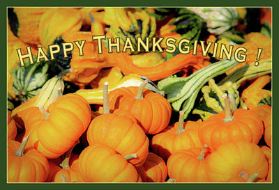 Photograph - Happy Thanksgiving by Bonnie Follett