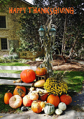 Photograph - Happy Thanksgiving Fall Display by Debbie Oppermann