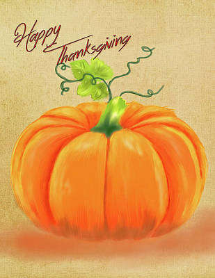 Photograph - Happy Thanksgiving Greeting Card by Mary Timman