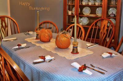 Happy Thanksgiving Art Print by Joan Bertucci