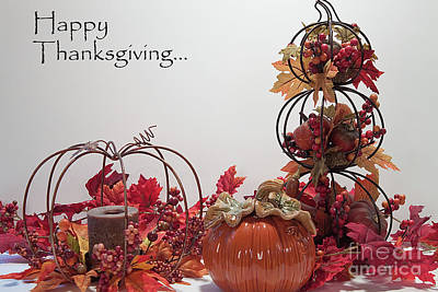 Photograph - Happy Thanksgiving To Friends And Family by Sherry Hallemeier