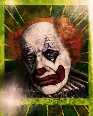 Digital Art - Happy The Clown by Jeremy Martinson