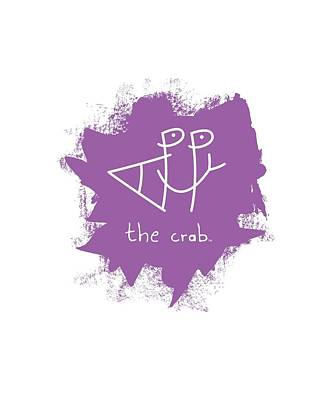 Mount Rushmore Mixed Media - Happy The Crab - Purple by Chris N Rohrbach