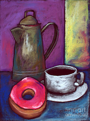 Donuts Painting - Happy Time by David Hinds