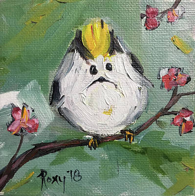 Image Painting - Happy Tit by Roxy Rich