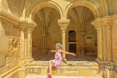 Photograph - Happy Tourist Visits Coimbra by Benny Marty