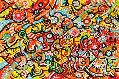 Painting - Happy Toys by Dariusz Orszulik