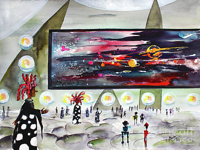 Painting - Happy Universe Day Travel Log 10 by Ginette Callaway