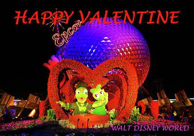Photograph - Happy Valentine Disney World by David Lee Thompson