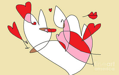 Digital Art - Happy Valentine by Nancy Kane Chapman