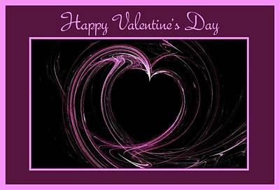 Digital Art - Happy Valentine's Day Card 1 by Angie Tirado