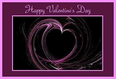 Digital Art - Happy Valentine's Day Card 1 by Angie Tirado