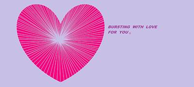 Digital Art - Happy Valentine's Day 19 by Linda Velasquez