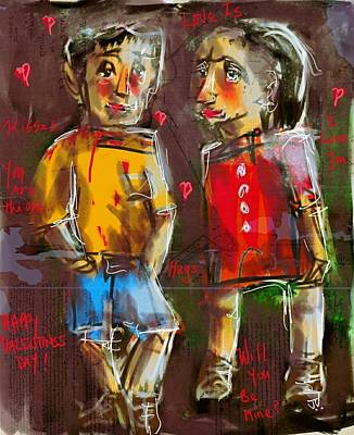 Painting - Happy Valentines Day by Jim Vance