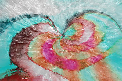 Digital Art - Happy Valentine's Day by Linda Sannuti