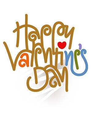 Happy Valentine's Day Poster Art Print