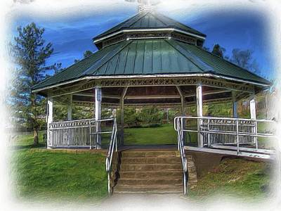 Print featuring the photograph Happy Valley Gazebo Art  by Thom Zehrfeld