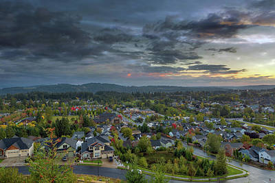 Photograph - Happy Valley Residential Neighborhood During Sunset by David Gn