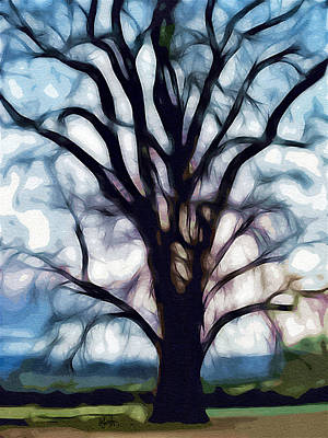 Digital Art - Happy Valley Tree by Holly Ethan