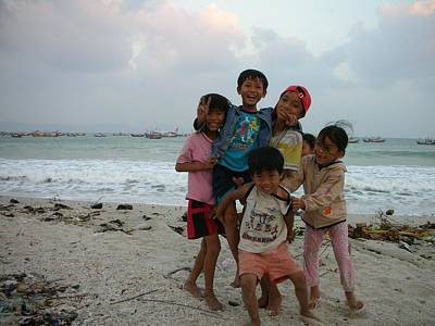 Photograph - Happy Vietnamese Kids by Irina ArchAngelSkaya