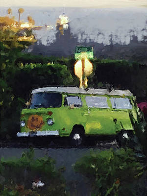 Mixed Media - Happy Vw by Russell Pierce