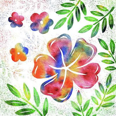 Painting - Happy Watercolor Flowers by Irina Sztukowski