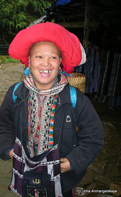 Photograph - Happy Woman From Sa Pa North Vietnam by Irina ArchAngelSkaya