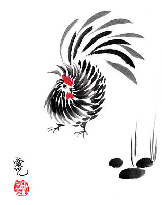 Happy Year Of The Rooster Art Print