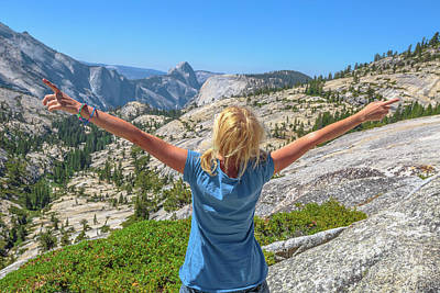Photograph - happy Yosemite hiking by Benny Marty