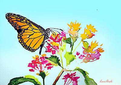 Painting - Happy Butterfly by Laura Rispoli
