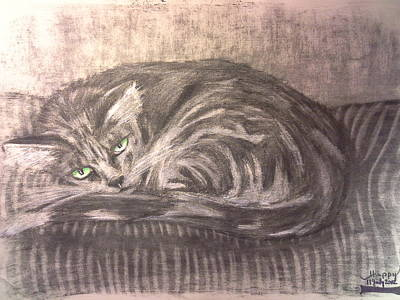 Disturbing Drawing - Happy's 2002 Mister Misty by Happy Byrd