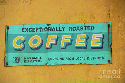 Photograph - Harambe Coffee Sign by Pamela Williams